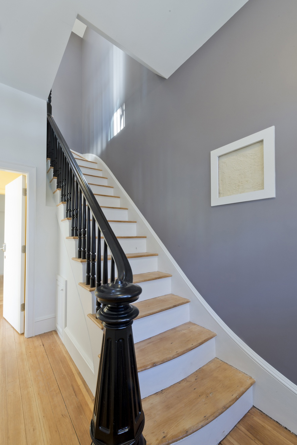 Reused stairs with historic details