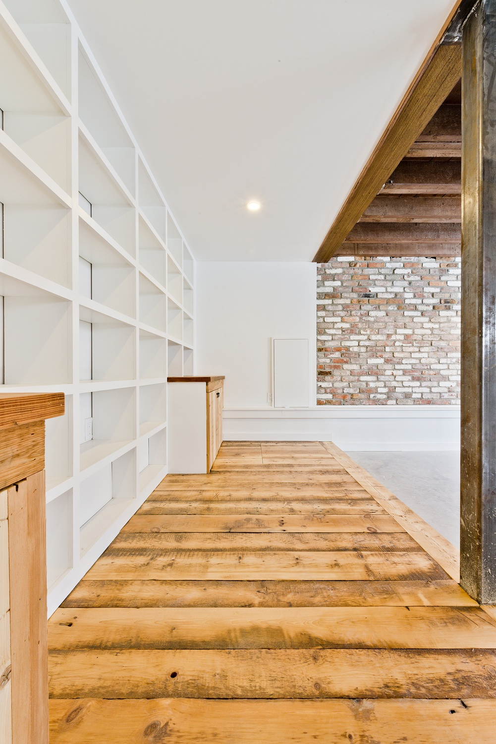 Use existing brick and pine
