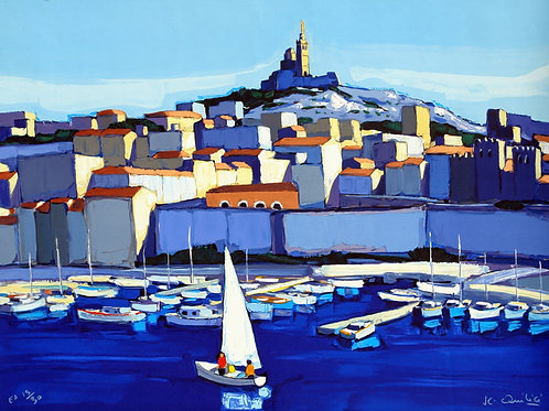 """Lithographie """"Marseille"""""""