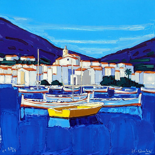 "Lithographie ""Barques à Cadaquès"""