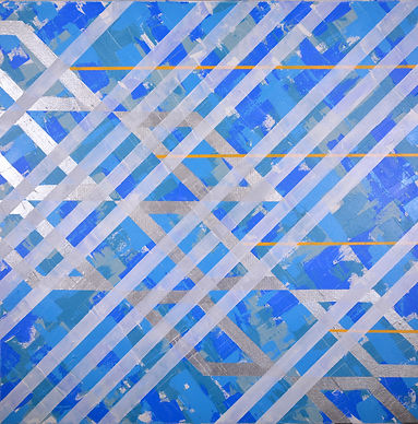 ferretti, solar energy, climate change, abstract acrylic painting