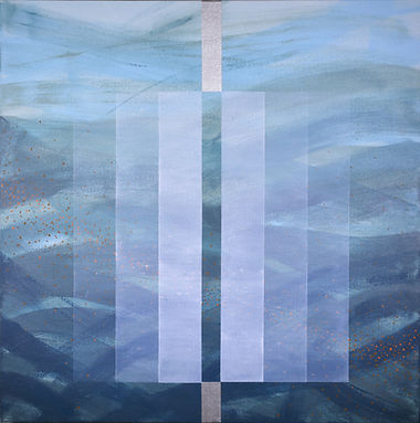 ferretti, hydro energy, currents, climate change, abstract acrylic painting