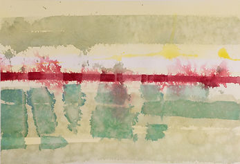 Watercolor Painting by Steve Ferretti, Abstract Dyke Marsh Fog
