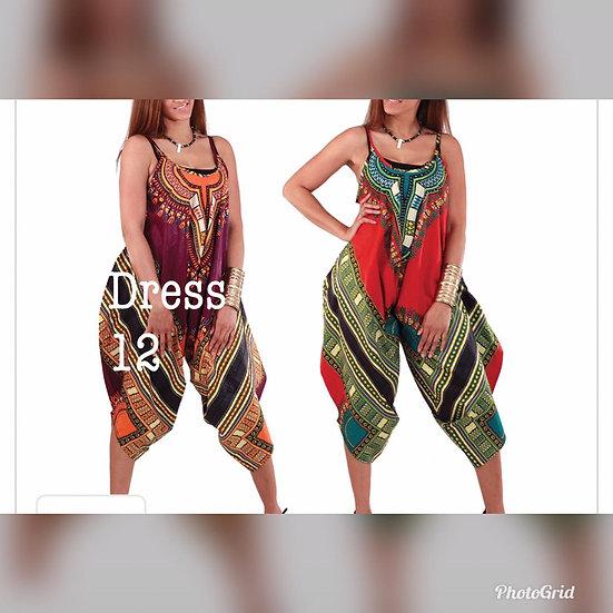 Assorted African/Ankara Prints Jump Suits