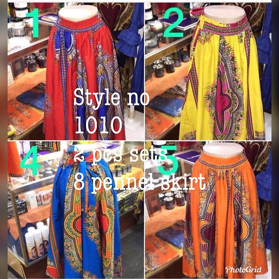 Assorted African/Ankara Prints Skirt Set