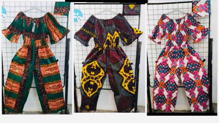 Assorted African/Ankara Prints Jump Suits