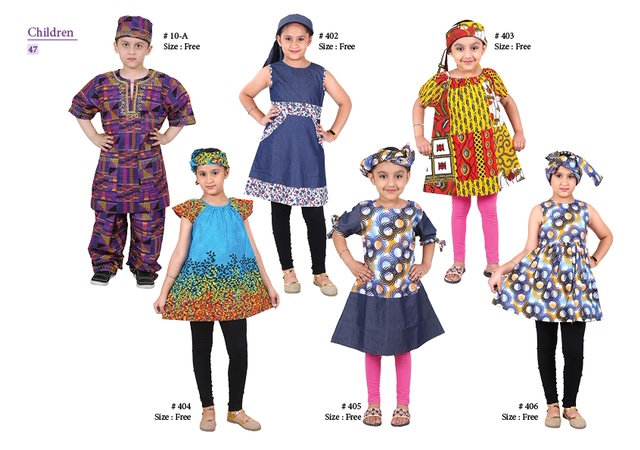 Assorted African/Ankara Prints Kids