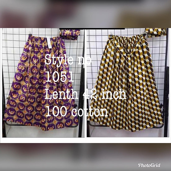 Assorted African/Ankara Prints Skirts