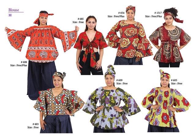 Assorted African/Ankara Prints Tops