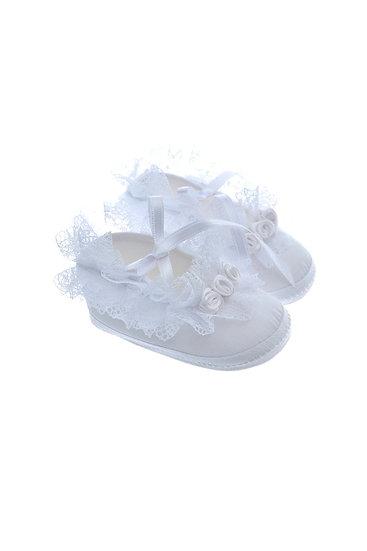 911229 Freesure Beyaz Kız Bebek Patik  Bebek Ayakkabı