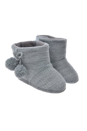 712515 Freesure Gri Kız Bebek Patik  Bebek Ayakkabı