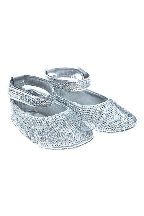 SEQUIN002 Freesure Gümüş Kız Bebek Patik  Bebek Ayakkabı