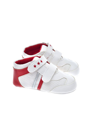201227 Freesure Kırmızı Erkek Bebek Patik  Bebek Ayakkabı