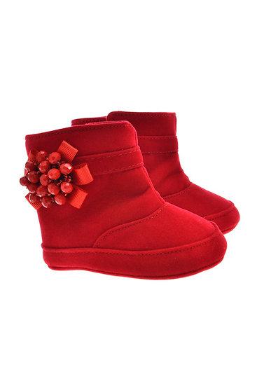 912620 Freesure Kırmızı Kız Bebek Patik  Bebek Ayakkabı