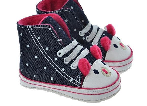 712401 Freesure Koyu Kot Kız Bebek Patik  Bebek Ayakkabı