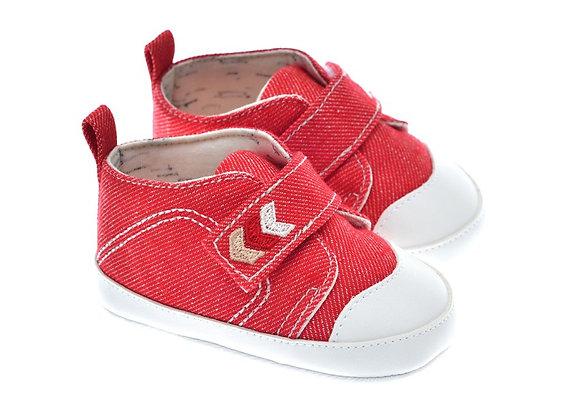 201229 Freesure Kırmızı Erkek Bebek Patik  Bebek Ayakkabı