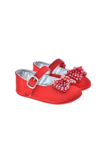811625 Freesure Kırmızı Kız Bebek Patik  Bebek Ayakkabı