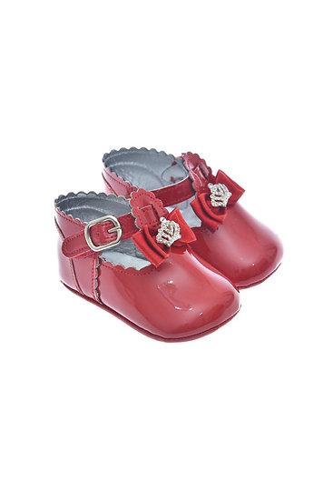 911211 Freesure Kırmızı Kız Bebek Patik  Bebek Ayakkabı