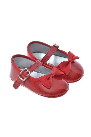 2000 Freesure Kırmızı Kız Bebek Patik  Bebek Ayakkabı