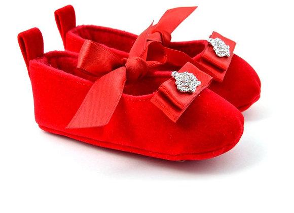 512101 Freesure Kırmızı Kız Bebek Patik  Bebek Ayakkabı
