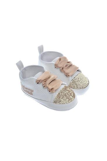 911215 Freesure Ekru Kız Bebek Patik  Bebek Ayakkabı