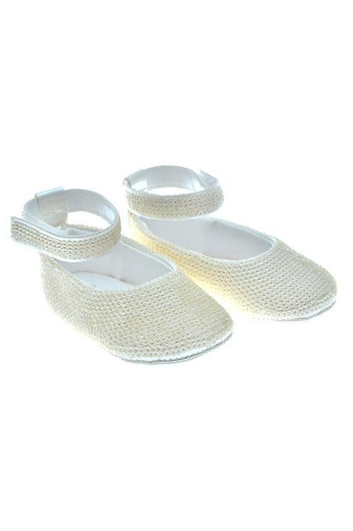 SEQUIN002 Freesure Ekru Kız Bebek Patik  Bebek Ayakkabı