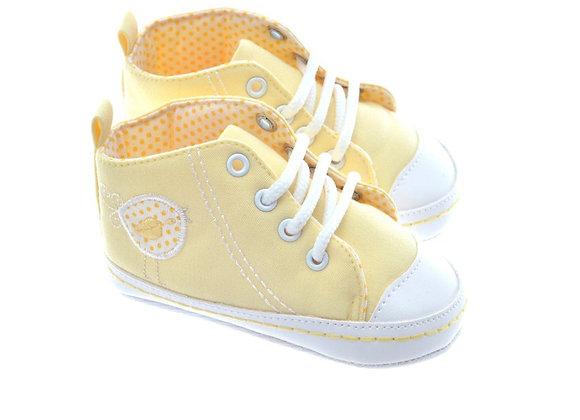 511001 Freesure Sarı Kız Bebek Patik  Bebek Ayakkabı