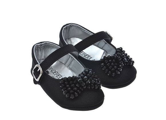 811625 Freesure Siyah Kız Bebek Patik  Bebek Ayakkabı