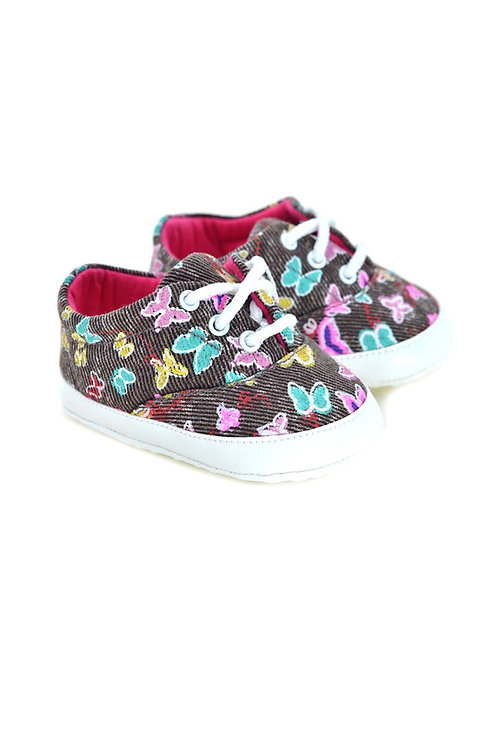 711105 Freesure Kahve Kız Bebek Patik  Bebek Ayakkabı