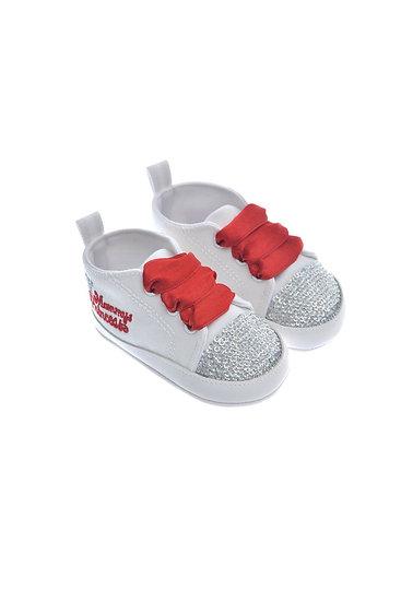 911215 Freesure Kırmızı Kız Bebek Patik  Bebek Ayakkabı