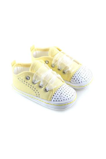511012 Freesure Sarı Kız Bebek Patik  Bebek Ayakkabı