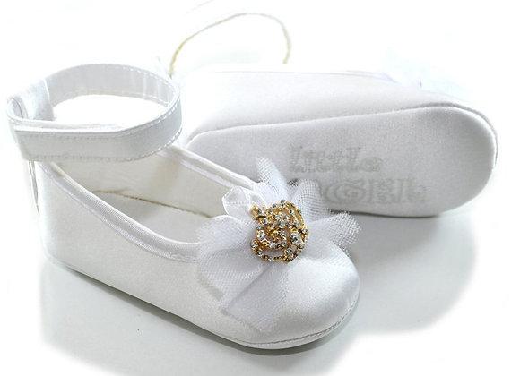 611006 Freesure Beyaz Kız Bebek Patik  Bebek Ayakkabı