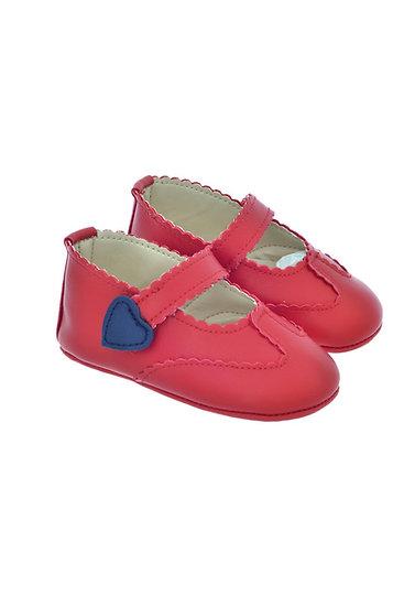 811603 Freesure Kırmızı Kız Bebek Patik  Bebek Ayakkabı