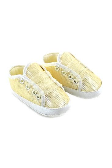 511004 Freesure Sarı Kız Bebek Patik  Bebek Ayakkabı