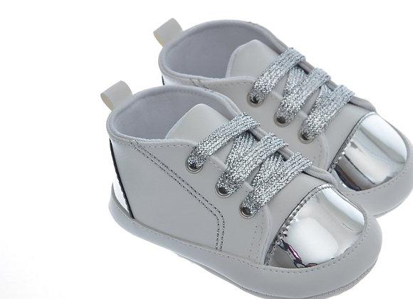 911212 Freesure Gümüş Kız Bebek Patik  Bebek Ayakkabı