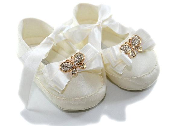 611005 Freesure Ekru Kız Bebek Patik  Bebek Ayakkabı