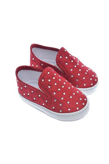 911218 Freesure Kırmızı Kız Bebek Patik  Bebek Ayakkabı