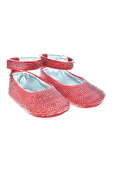 SEQUIN002 Freesure Kırmızı Kız Bebek Patik  Bebek Ayakkabı