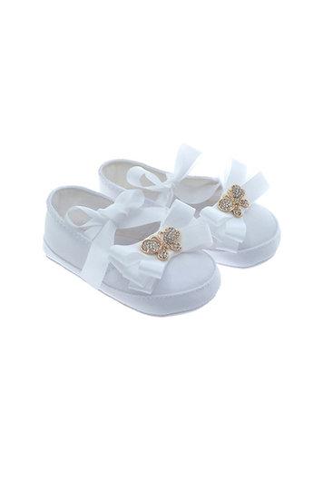 611005 Freesure Beyaz Kız Bebek Patik  Bebek Ayakkabı