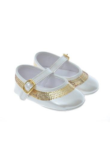 511007 Freesure Ekru Kız Bebek Patik  Bebek Ayakkabı
