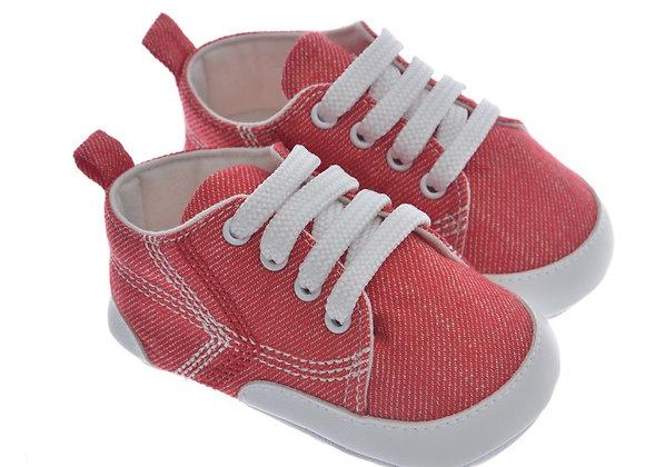 911409 Freesure Kırmızı Erkek Bebek Patik  Bebek Ayakkabı