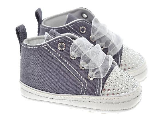 91102 Freesure Füme Kız Bebek Patik  Bebek Ayakkabı