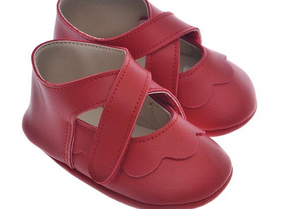 911220 Freesure Kırmızı Kız Bebek Patik  Bebek Ayakkabı
