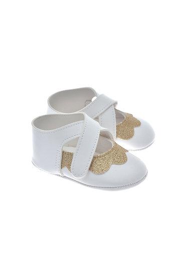 201122 Freesure Altın Kız Bebek Patik  Bebek Ayakkabı