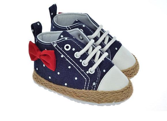 811606 Freesure Koyu Jean Kız Bebek Patik  Bebek Ayakkabı