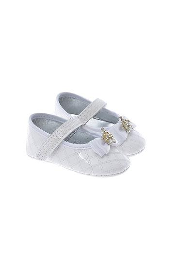 611001 Freesure Beyaz Kız Bebek Patik  Bebek Ayakkabı