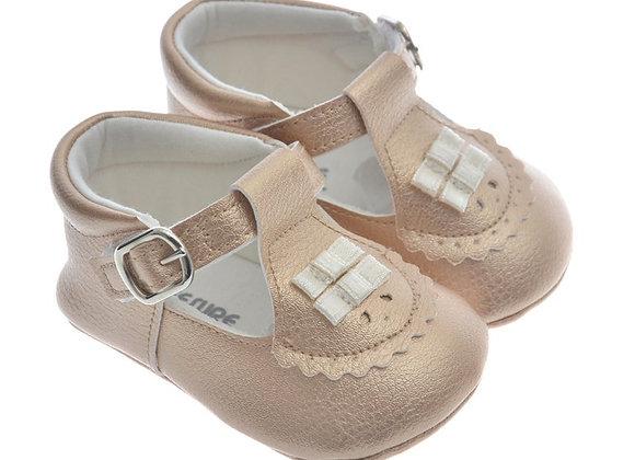 911217 Freesure Altın Kız Bebek Patik  Bebek Ayakkabı