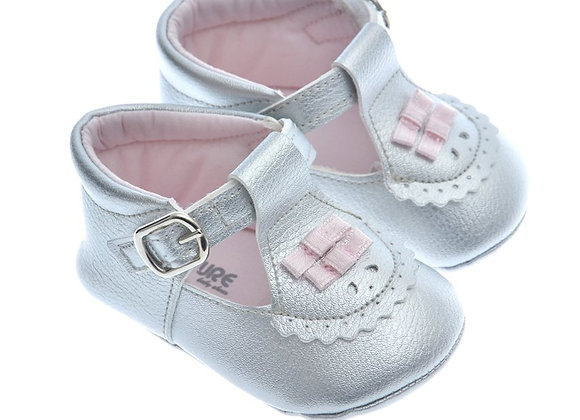 911217 Freesure Gümüş Kız Bebek Patik  Bebek Ayakkabı
