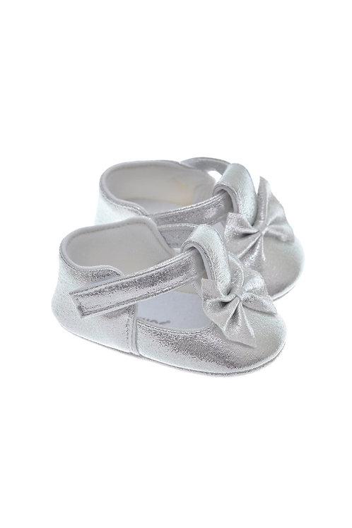 201114 Freesure Gümüş Kız Bebek Patik  Bebek Ayakkabı