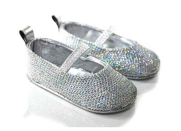 SEQUIN001 Freesure Gümüş Kız Bebek Patik  Bebek Ayakkabı